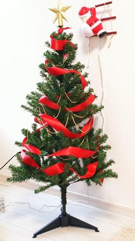 クリスマスツリー飾り方リボン